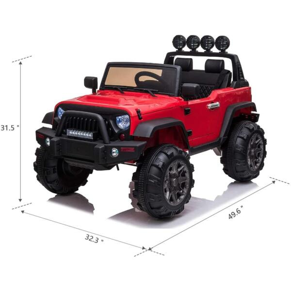12V Ride On Truck Cars Battery Operated Electric Cars w/ Music, Horn 6 45