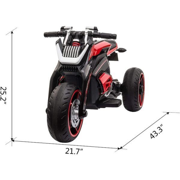 12V Kids Motorcycle Toy 3 Wheels Electric Trike 6 46