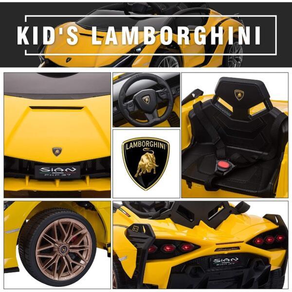 Licensed Lamborghini Sian Car Toy w/ Scissor Door 6 53