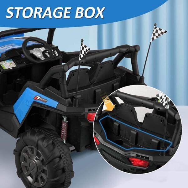 12V Powerful Kids Truck Ride on 2-Seater Battery Car for Child 6 63