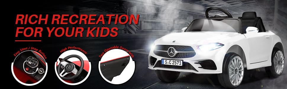 12V Electric Car for Kids Licensed Mercedes Benz CLS 350 Ride On Car 6 65