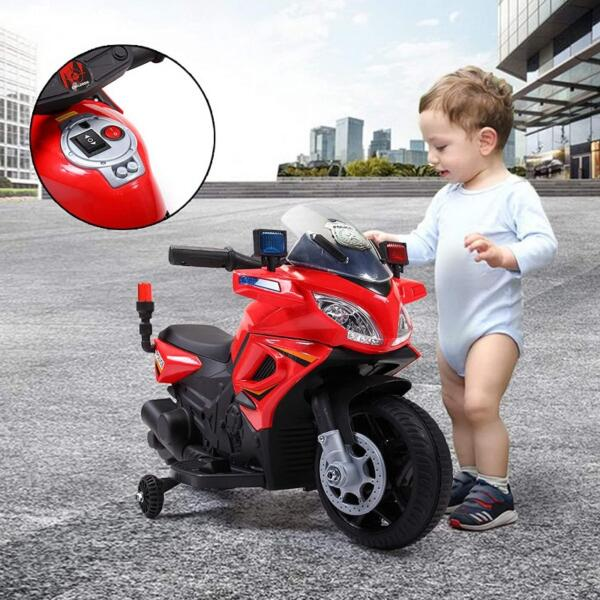 Kids Ride On Electric 4 Wheel Police Motorcycle for 2-4 Years 6 71