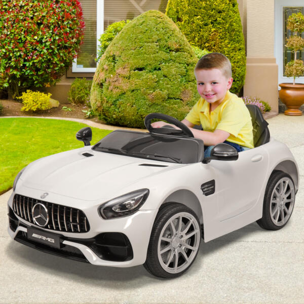 12V Mercedes Benz 2 Seater Kids Ride On Car With Remote Control, White 6 78