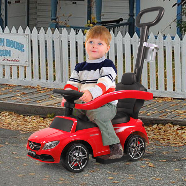 Mercedes Benz Ride On Push Car for Toddlers, Red 6 79