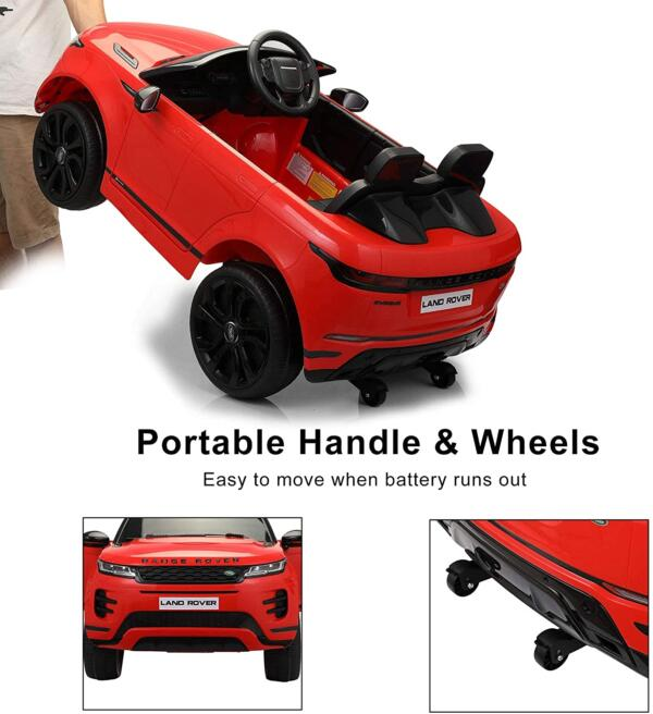 12V Land Rover Kids Power Wheels Ride On Toys With Remote, Red 6 81