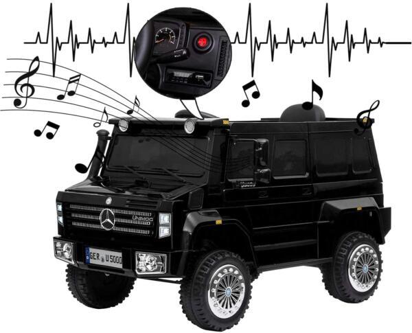 6V Mercedes Benz Unimog U500 Kids Ride on SUV Car with Remote Control, Black 6 84