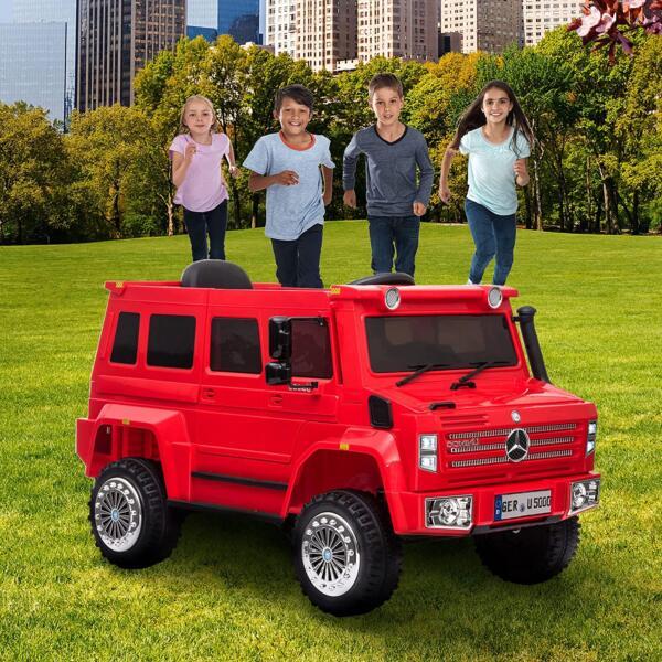6V Mercedes Benz Unimog U500 Kids Ride on SUV Car with Remote Control, Red 6 86