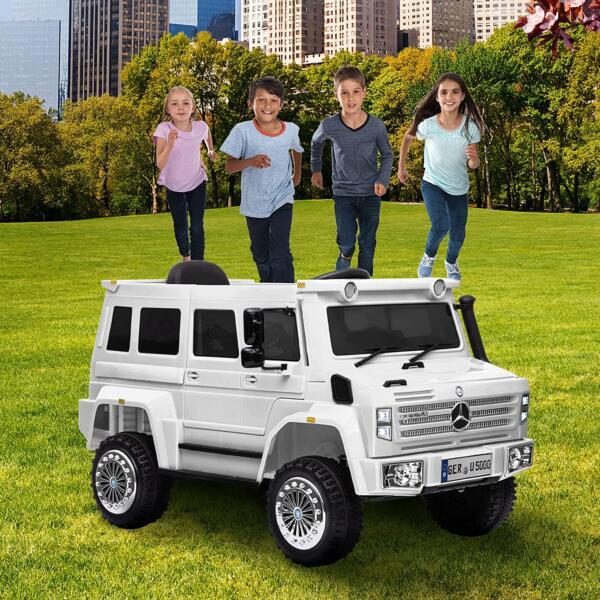6V Mercedes Benz Unimog U500 Kids Ride on SUV Car with Remote Control, White 6 87
