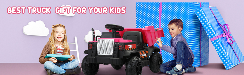 Electric Ride-on Dump Truck Toy with Remote 6 89