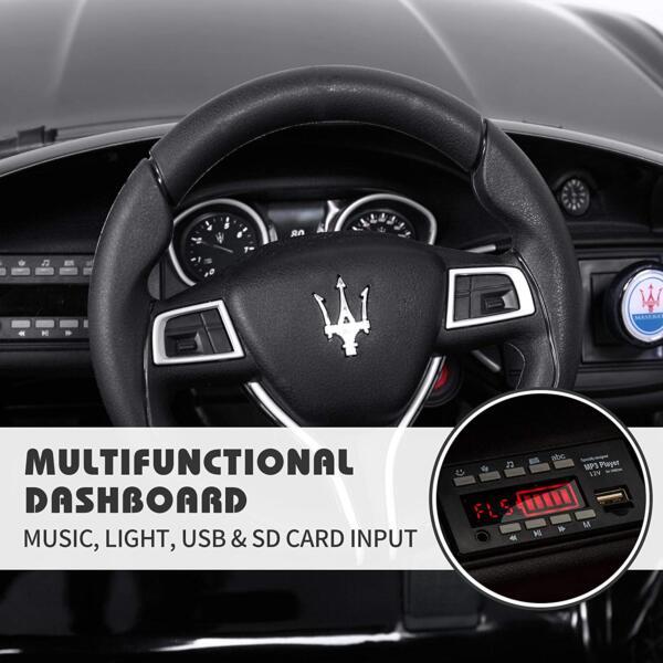 Maserati Kids Car 12V Ride On With Remote, Black 6 92