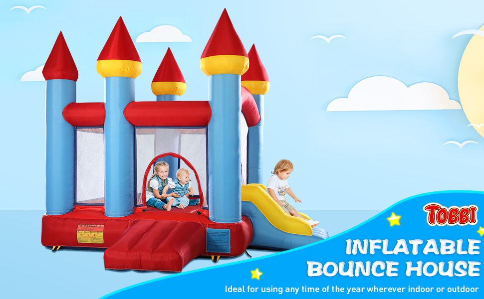Inflatable Bounce House Jumping Castle with Slide 6092eea5 c04f 4b0b 86d3 0ab0283046dd. CR00970600 PT0 SX970 V1