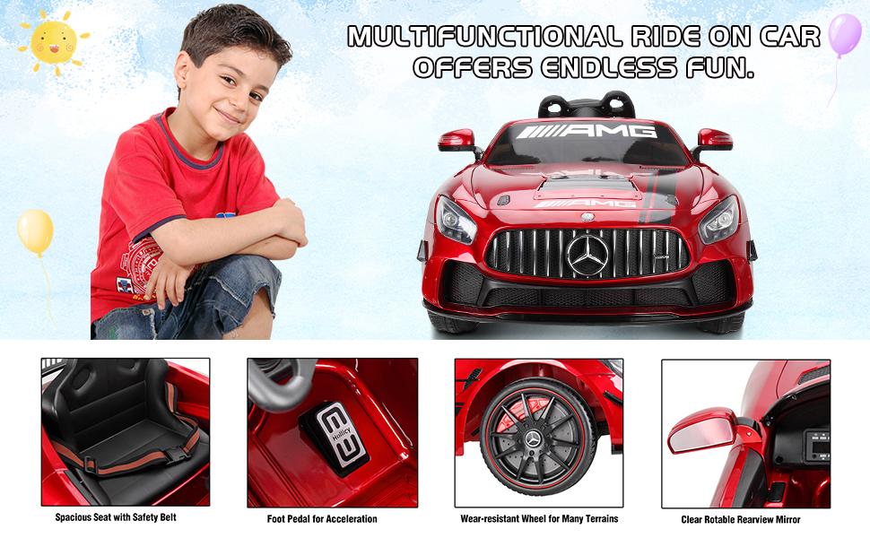 12V Electric Licensed Mercedes Benz AMG GT Kid Ride on Car, Red 6488f264 b5ff 4de4 b4f4 c4e799d7e395. CR00970600 PT0 SX970 V1