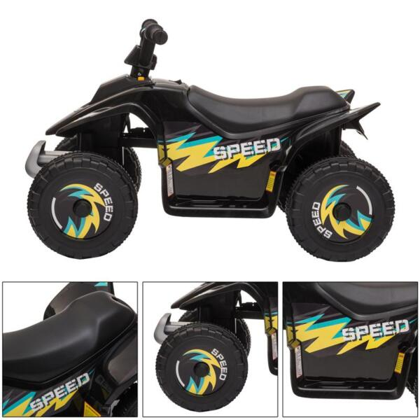 6V Electric Ride on Quad ATV For Kids, Black 6v kids 4 wheeler quad ride on atv black 22