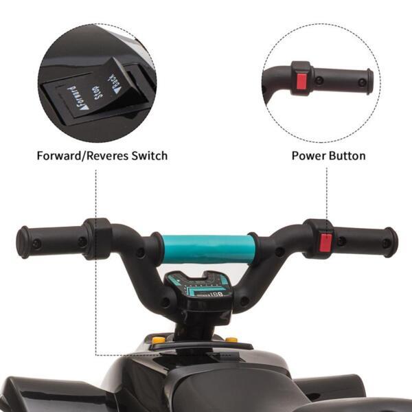 6V Electric Ride on Quad ATV For Kids, Black 6v kids 4 wheeler quad ride on atv black 25
