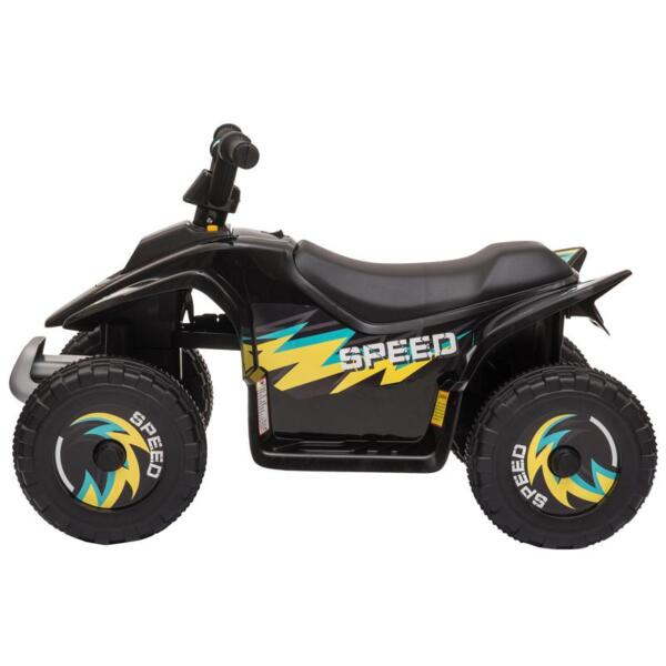 6V Electric Ride on Quad ATV For Kids, Black 6v kids 4 wheeler quad ride on atv black 4 1