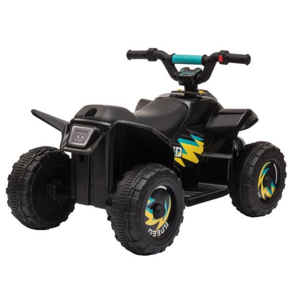6V Electric Ride on Quad ATV For Kids, Black 6v kids 4 wheeler quad ride on atv black 7 1