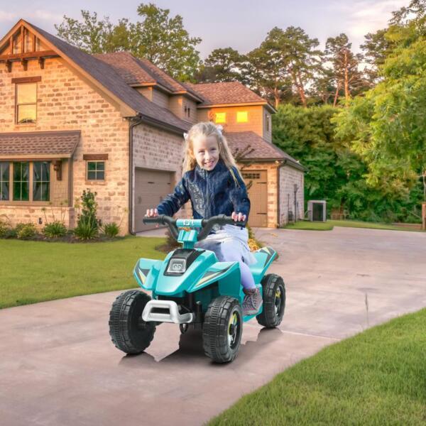6V Kids 4-Wheeler Quad Ride on ATV, Blue 6v kids 4 wheeler quad ride on atv blue 10 2