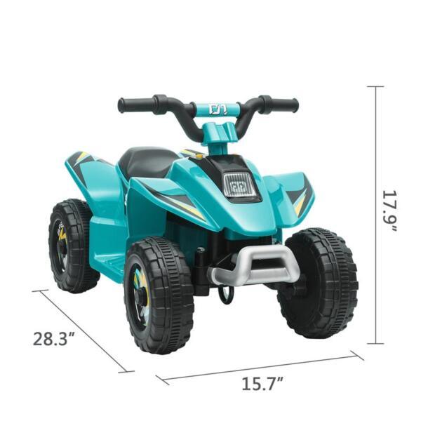 6V Kids 4-Wheeler Quad Ride on ATV, Blue 6v kids 4 wheeler quad ride on atv blue 13 3