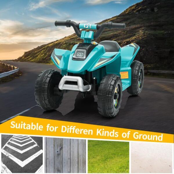 6V Kids 4-Wheeler Quad Ride on ATV, Blue 6v kids 4 wheeler quad ride on atv blue 15