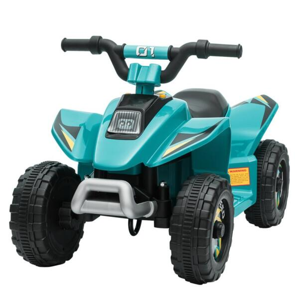 6V Kids 4-Wheeler Quad Ride on ATV, Blue 6v kids 4 wheeler quad ride on atv blue 2 1