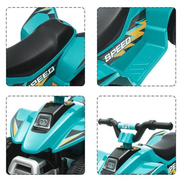 6V Kids 4-Wheeler Quad Ride on ATV, Blue 6v kids 4 wheeler quad ride on atv blue 22 1