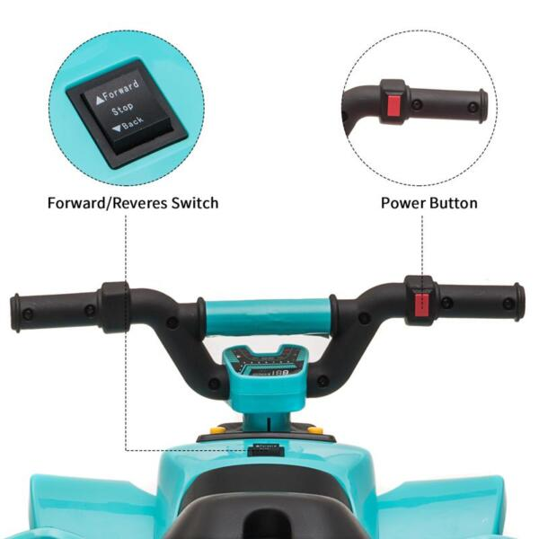 6V Kids 4-Wheeler Quad Ride on ATV, Blue 6v kids 4 wheeler quad ride on atv blue 24 1