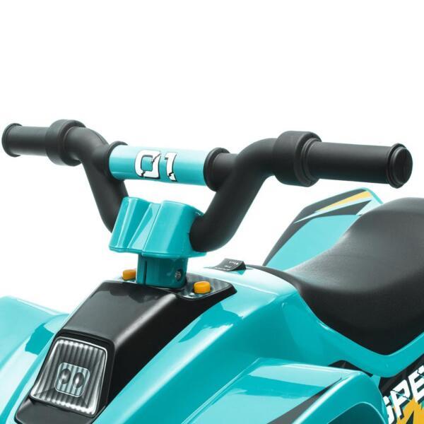 6V Kids 4-Wheeler Quad Ride on ATV, Blue 6v kids 4 wheeler quad ride on atv blue 29