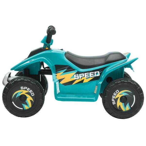 6V Kids 4-Wheeler Quad Ride on ATV, Blue 6v kids 4 wheeler quad ride on atv blue 3 1