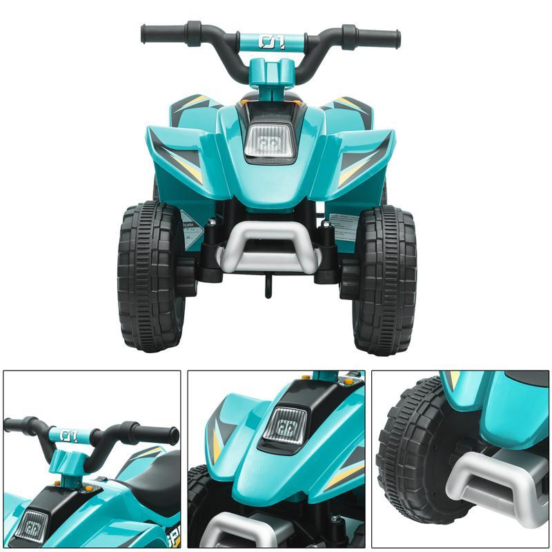 6V Electric Ride on Quad ATV For Kids, Blue 6v kids 4 wheeler quad ride on atv blue 31 1