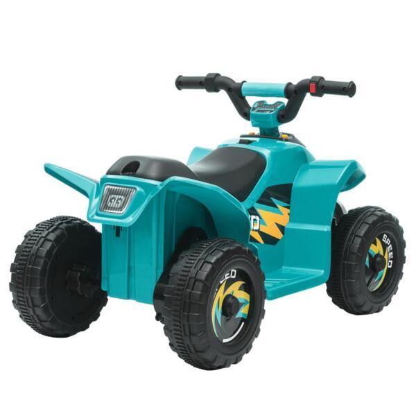 6V Kids 4-Wheeler Quad Ride on ATV, Blue 6v kids 4 wheeler quad ride on atv blue 6 1