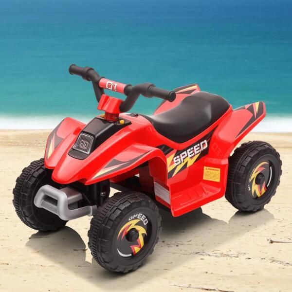 6V Electric Ride on Quad ATV For Kids, Red 6v kids 4 wheeler quad ride on atv red 12 2