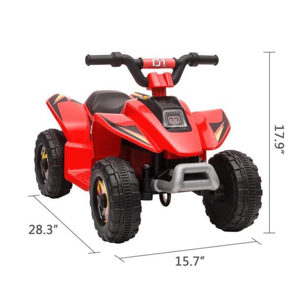 6V Electric Ride on Quad ATV For Kids, Red 6v kids 4 wheeler quad ride on atv red 13 1