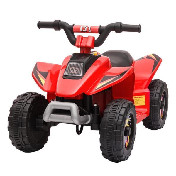6V Electric Ride on Quad ATV For Kids, Red 6v kids 4 wheeler quad ride on atv red 2 1