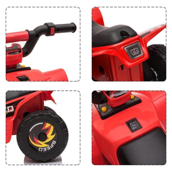 6V Electric Ride on Quad ATV For Kids, Red 6v kids 4 wheeler quad ride on atv red 23