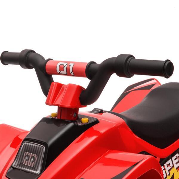 6V Electric Ride on Quad ATV For Kids, Red 6v kids 4 wheeler quad ride on atv red 29 2