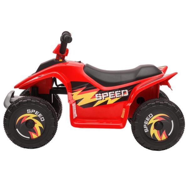 6V Electric Ride on Quad ATV For Kids, Red 6v kids 4 wheeler quad ride on atv red 3 1
