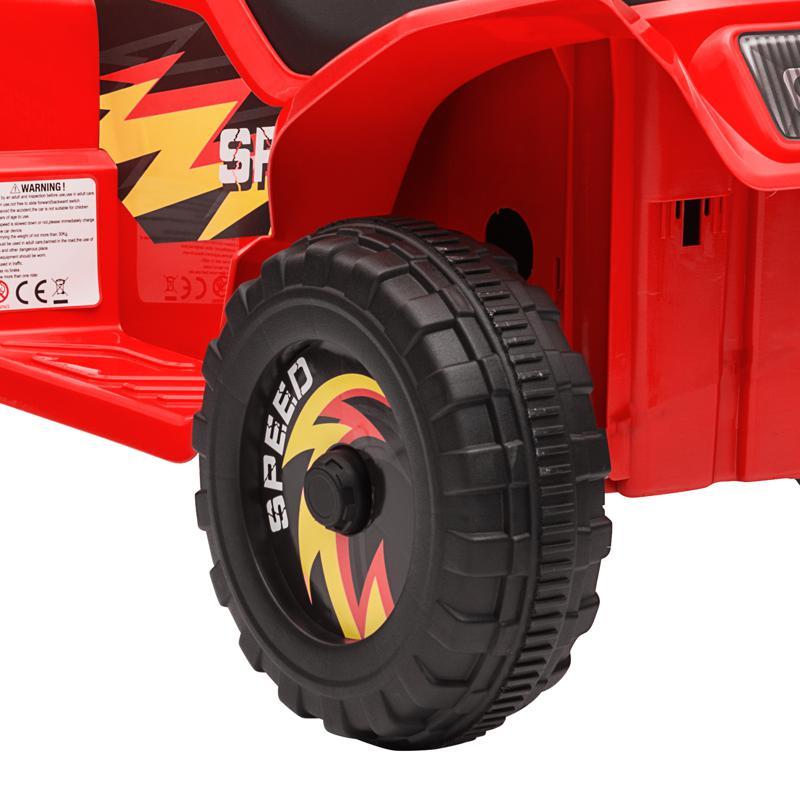 6V Electric Ride on Quad ATV For Kids, Red 6v kids 4 wheeler quad ride on atv red 30 2