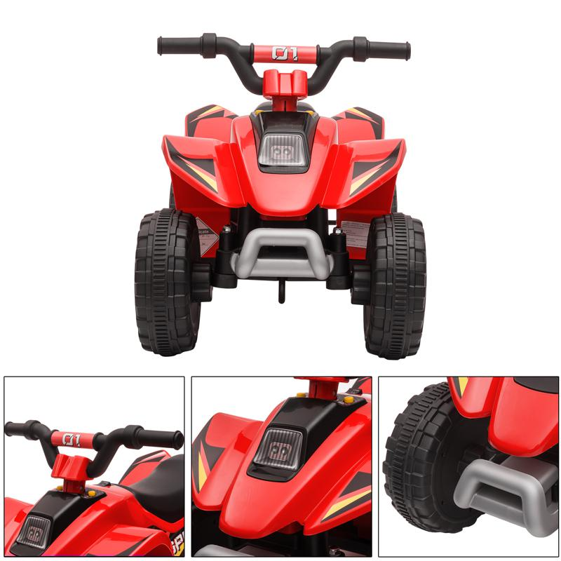 6V Electric Ride on Quad ATV For Kids, Red 6v kids 4 wheeler quad ride on atv red 31 1