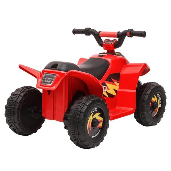 6V Electric Ride on Quad ATV For Kids, Red 6v kids 4 wheeler quad ride on atv red 6 1