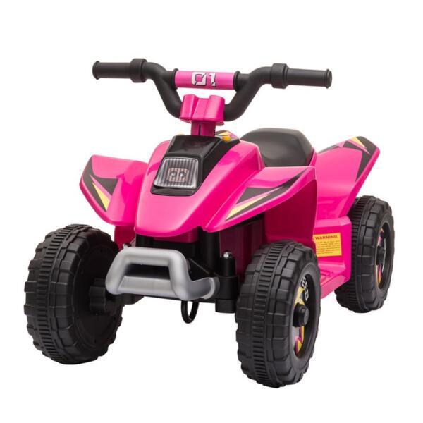 6V Kids 4-Wheeler Quad Ride on ATV, Rose Red 6v kids 4 wheeler quad ride on atv rose red 1