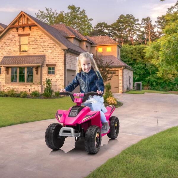 6V Kids 4-Wheeler Quad Ride on ATV, Rose Red 6v kids 4 wheeler quad ride on atv rose red 11