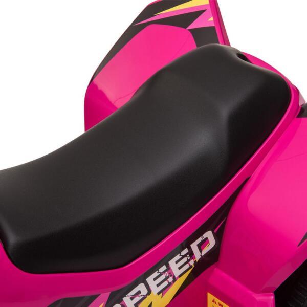 6V Kids 4-Wheeler Quad Ride on ATV, Rose Red 6v kids 4 wheeler quad ride on atv rose red 19