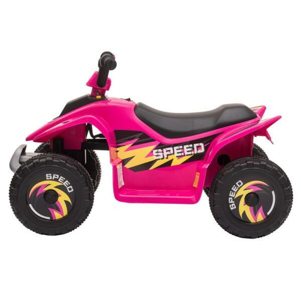 6V Kids 4-Wheeler Quad Ride on ATV, Rose Red 6v kids 4 wheeler quad ride on atv rose red 2