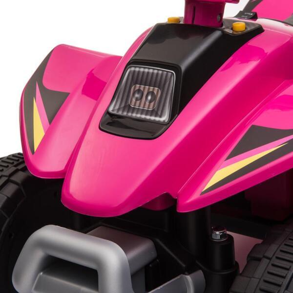 6V Kids 4-Wheeler Quad Ride on ATV, Rose Red 6v kids 4 wheeler quad ride on atv rose red 26 1