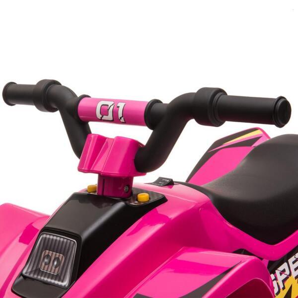 6V Kids 4-Wheeler Quad Ride on ATV, Rose Red 6v kids 4 wheeler quad ride on atv rose red 27