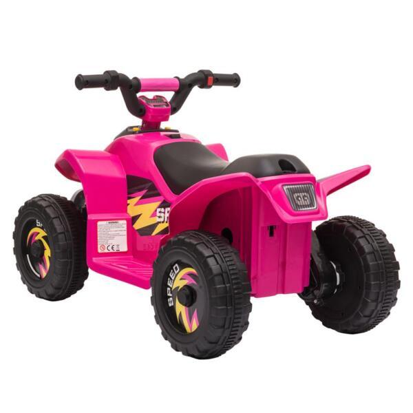 6V Kids 4-Wheeler Quad Ride on ATV, Rose Red 6v kids 4 wheeler quad ride on atv rose red 3