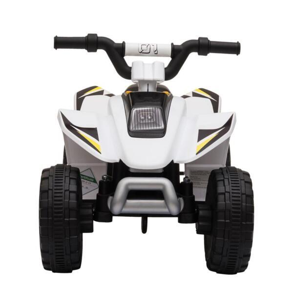 6V Electric Ride on Quad ATV For Kids, White 6v kids 4 wheeler quad ride on atv white 25