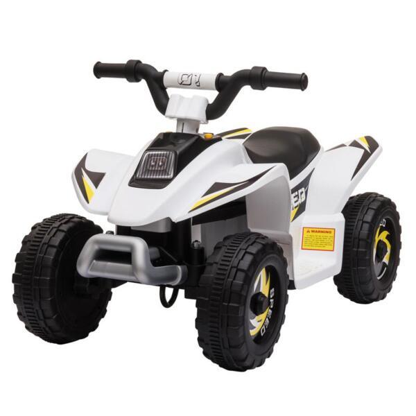 6V Electric Ride on Quad ATV For Kids, White 6v kids 4 wheeler quad ride on atv white 26