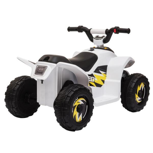 6V Electric Ride on Quad ATV For Kids, White 6v kids 4 wheeler quad ride on atv white 30