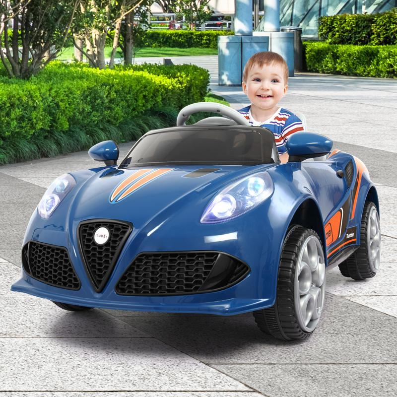 6V Powered Riding Toys with MP3, Blue 6v kids electric car with mp3 head light blue 13 1